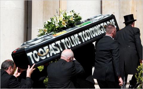 Malcolm McLaren's Coffin