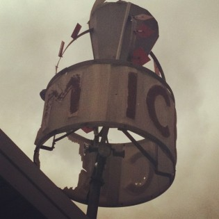 Damaged Carvel sign. Queens. Oct. 2012. Photo by Michele Witchipoo.