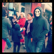 Halloween despite Hurricane Sandy. Queens NY. Oct. 2012. Photo by Michele Witchipoo.