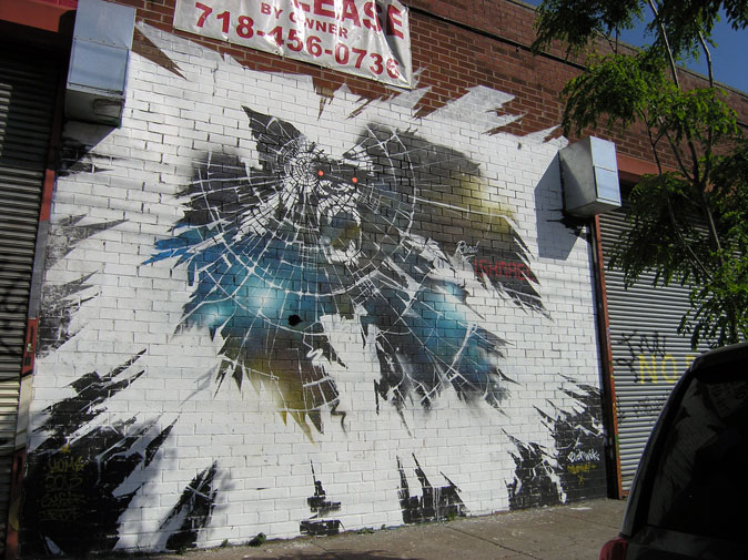 Street art/graffiti in Bushwick. Late May/Early June 2013. Photography by Michele Witchipoo.
