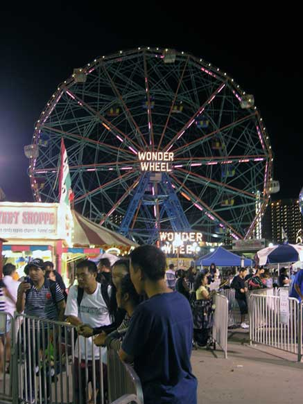 No post about Coney Island can be complete without a photo of the world famous Wonder Wheel. August 2013. Photo by Michele Witchipoo.
