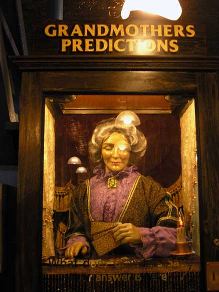 Good old fashioned mechanical fortune telling. August 2013. Photo by Michele Witchipoo.