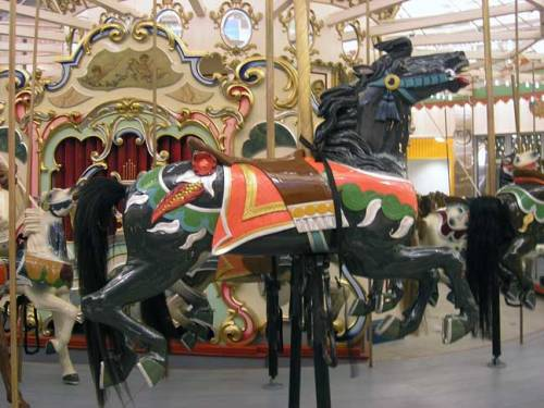 One of the horses from the carousel ride in Coney Island. August 2013. Photo by Michele Witchipoo.