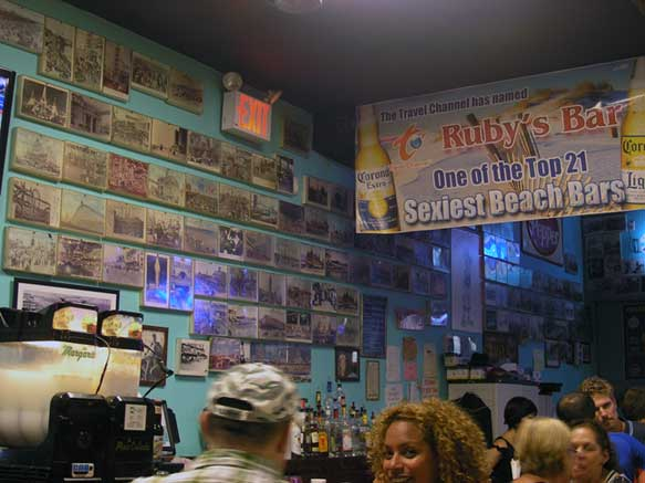 Saturday night inside Ruby's Bar and Grill. Coney Island, Brooklyn. August 2013. Photo by Michele Witchipoo.