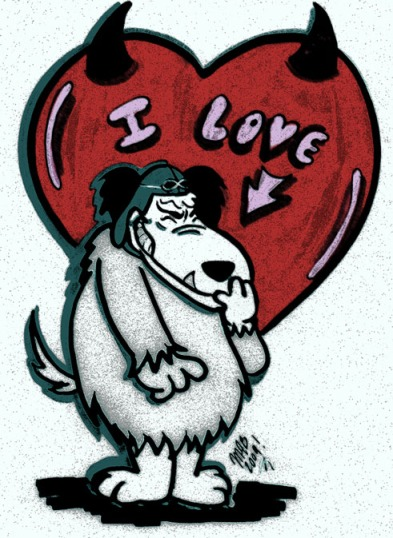 """I Love Muttley"" Fan art by Michele Witchipoo, 2009."