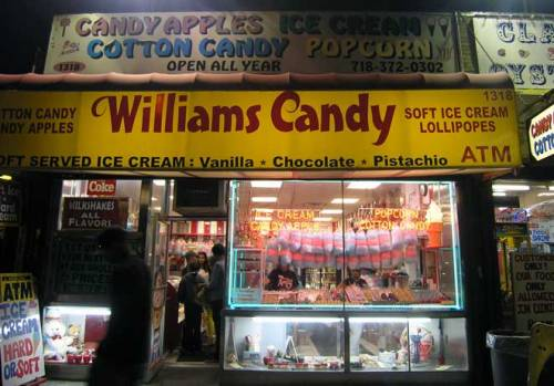 Williams Candy. Long time candy store in Coney Island, Brooklyn, New York. Aug. 2013. Photo by Michele Witchipoo.