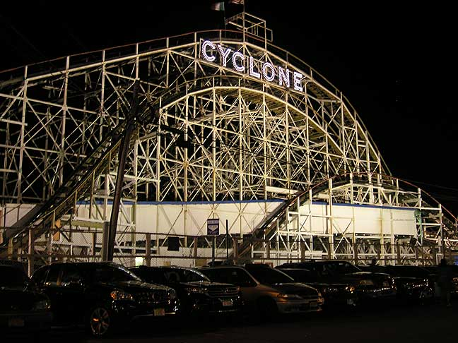 No photo essay on Coney Island would be complete without one or two things. First one: the Cyclone. August 2013. Photo by Michele Witchipoo.