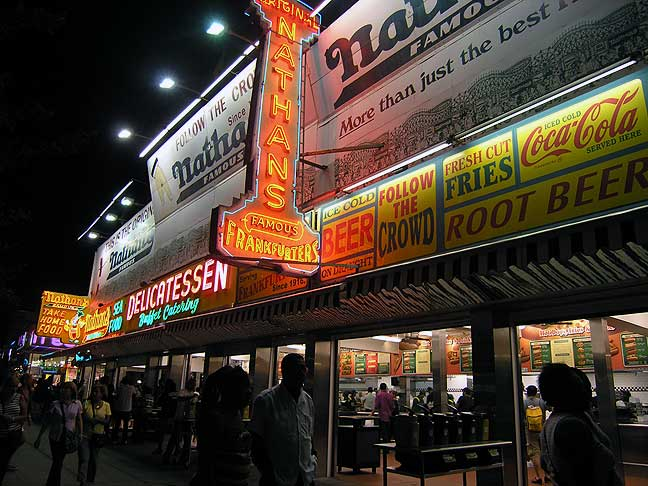 The original Nathan's location in Coney Island. August 2013. Photo by Michele Witchipoo.