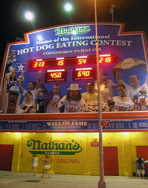 Site of the annual Coney Island Hot Dog eating contest. Happens every Fourth of July. Always wanted to go, haven't done it yet. Only in America is gluttony a sport. Aug. 2013. Photo by Michele Witchipoo.