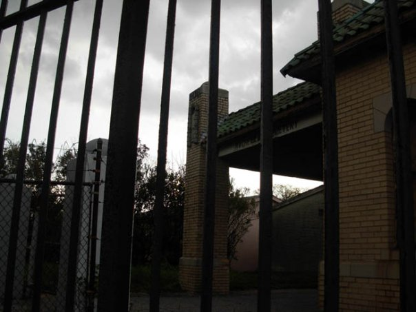 Gated entrance to Machpelah Cemetery in Queens, NY. Photo by Michele Witchipoo 2009.