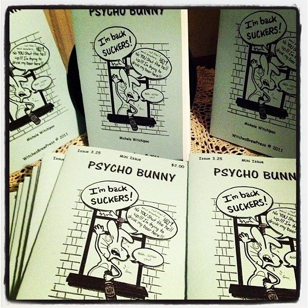 Reprints of Psycho Bunny mini issue. Comic by Michele Witchipoo.
