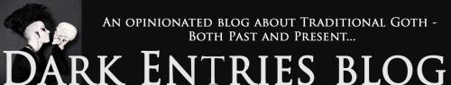 Banner for Dark Entries blog. Created by Michele Witchipoo May 2014.