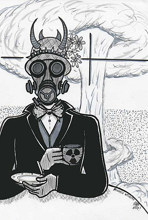 Radioactive. June 2014. Pen, marker. Art by Michele Witchipoo.
