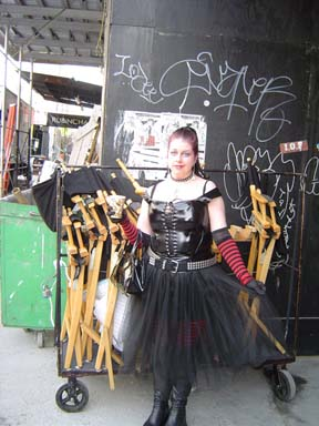 Me at the Jonny Zero filming, March 2005. NYC. My time as a 'Goth' TV background/extra.