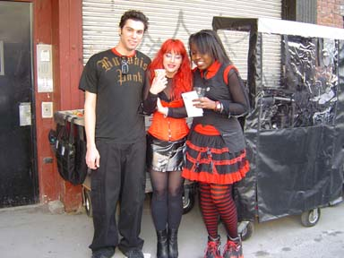 Non union 'Goth' extras at the 'Jonny Zero' filming. March 2005. NYC. Photo by Michele WItchipoo.
