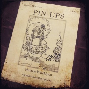 Mini-issue from WitchedBrewPress from Michele Witchipoo. Pin-ups. Debuted at Big Apple Comic Con Sat. March 3rd, 2015.