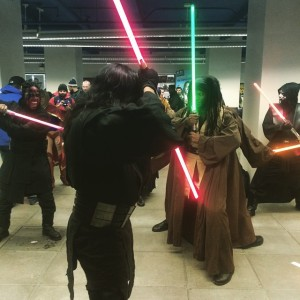 Jedi brigade at Big Apple Comic Con Sat. March 3rd, 2015. Photo by Michele Witchipoo.