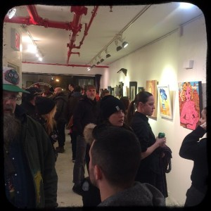 "Crowd at the MF Gallery art opening for ""GIRLS of The Underground."" Sat. March 7th, 2015."