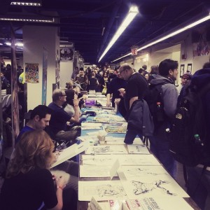 Crowd inside Big Apple Comic Con. Sat. March 3rd, 2015. Photo by Michele Witchipoo.