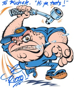Autograph of Johnny Brennan, of The Jerky Boys and voice actor of Mort from Family Guy. Signed Sat. March 7th, 2015.