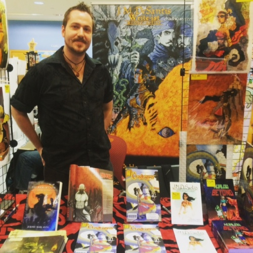 Artist and writer JM DeSantis at BXHCC7, Saturday May 2nd, 2015.