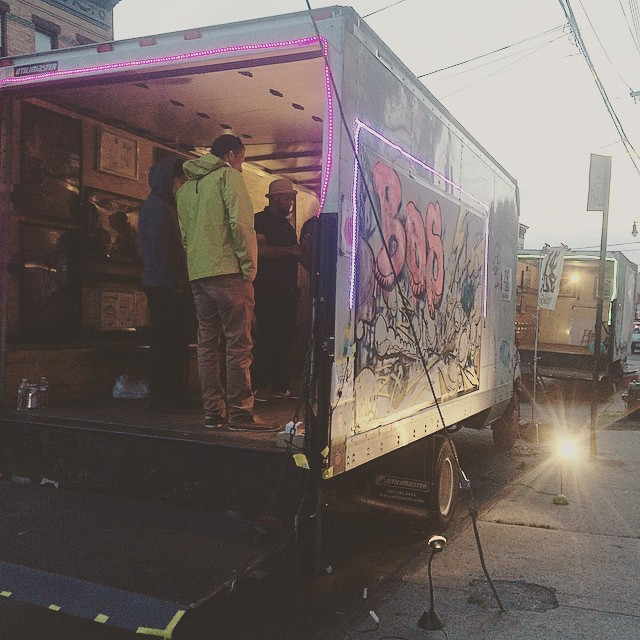 One of the many 'art' trucks parked on Jefferson Street, as part of the Bushwick Open Studios 2015. Photo by Michele Witchipoo.