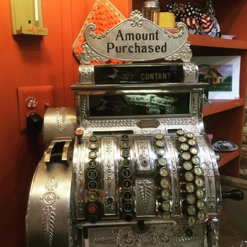 Cash register inside the Vander Ende-Onderdonk House gift shop.