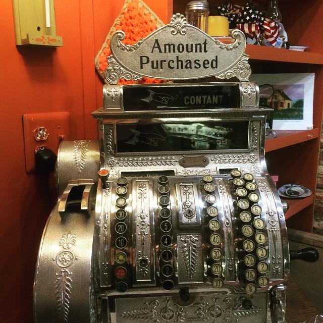 Cash register inside the Vander Ende-Onderdonk House gift shop.