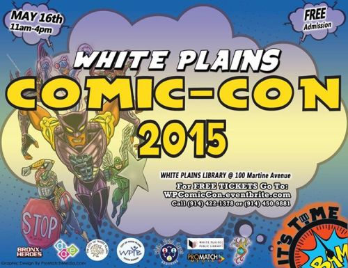 Ad for the White Plains Comic Con 2015.