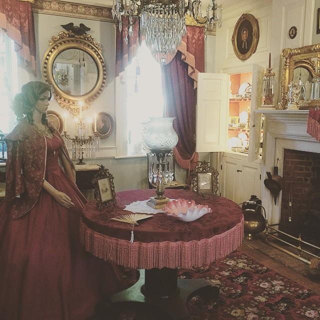 Victorian room inside the Vander Ende-Onderdonk House.