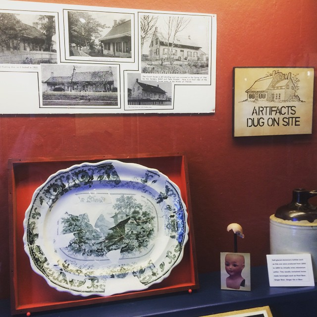 Display inside the Vander Ende-Onderdonk House.