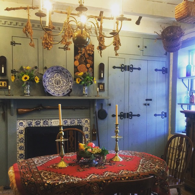 Dining room inside the Vander Ende-Onderdonk House.