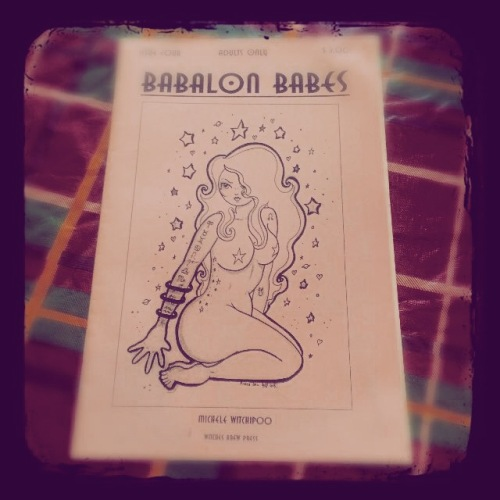 Issue number 4 of Babalon Babes. Astrology issue. Babalon Babes has since been discontinued, but you can still order copies through WitchesBrewPress, or Etsy.