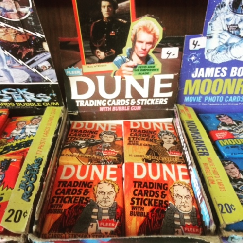 Vintage Dune trading cards from the 80s film release. Photo by Michele Witchipoo.