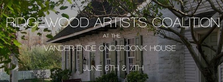 Ad for the Ridgewood Represent! The Ridgewood Artists Coalition Group Show at the Vander-Ende Onderdonk House, as part of Bushwick Open Studios (RAC), taking place June 6-7 2015.