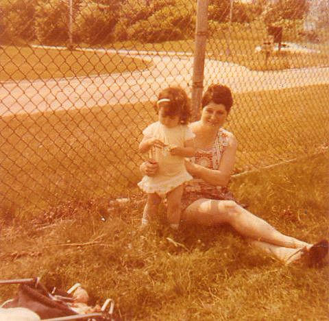 Me and my mother during my toddler years.