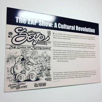 Zap comics retrospective at Society of Illustrators for after MoCCA party. April 2016.