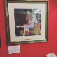 Artist Coby Whitmore (1913 - 1988) who was published in The Saturday Evening Post. On display inside The Society of Illustrators building.