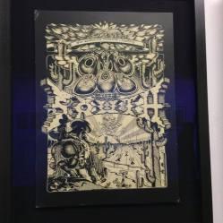 Artist Rick Griffin Zap#6. Inside Zap Comics retrospective at The Society of Illustrators. April 2016.