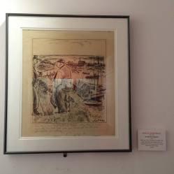 Artist Denys Wortman illustration from 1934. Inside on display inside The Society of Illustrators building.