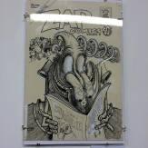 Artist Gilbert Shelton Zap#6. Zap Comics retrospective inside The Society of Illustrators. April 2016.