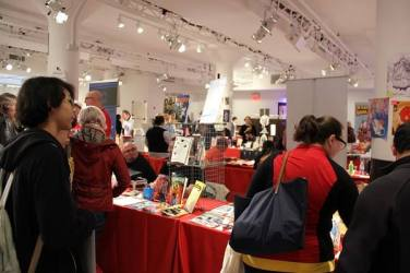 Scene from MoCCA Fest 2016. April 2016. Photo by Paul Curtis.