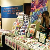 One of the artists at the second annual White Plains comic con, June 4th, 2016