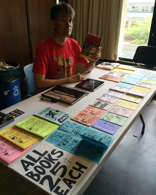 Artist Tim Kelly at the second annual White Plains comic con, June 4th, 2016.