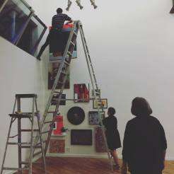 Beginning of installation. Photo by Michele Witchipoo Sept. 2016