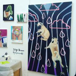 Artist Jaclyn Brown at 1717 Troutman during Bushwick Open Studios 2016.
