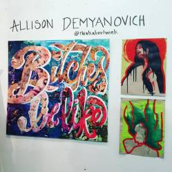 Bushwick Open Studios 2016 at 1717 Troutman. Oct. 1st, 2016. Photo by Michele Witchipoo. Artist: Allison Demyanovich.