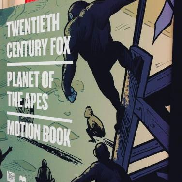 Planet of The Apes motion book display as seen during NYCC 2016