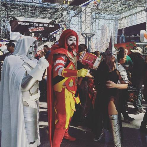 Ronald McDonald as Thor. NYCC. Photo by Michele Witchipoo. Oct. 2016.
