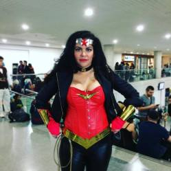 Wonder Woman cosplay at NYCC. Oct. 2016. Photo by Michele Witchipoo